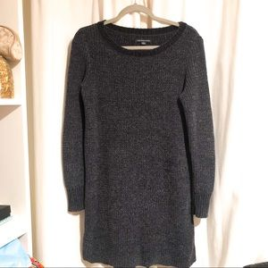 American Eagle Navy Blue Chenille Sweater Dress